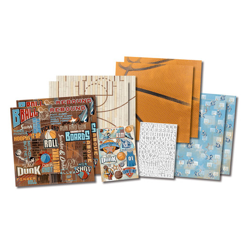 Karen Foster Design - Basketball Collection - Scrapbook Kit - Basketball Star