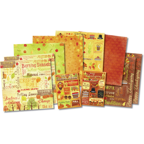Karen Foster Design - Autumn and Thanksgiving Collection - Scrapbook Kit - Bushel Of Blessings Kit