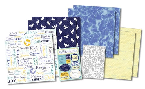Karen Foster Design - Baptism Collection - Scrapbook Kit - Purify and Cleanse