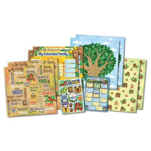 Karen Foster Design - Kid's Ancestry Collection - Scrapbook Kit - Kid's Ancestry