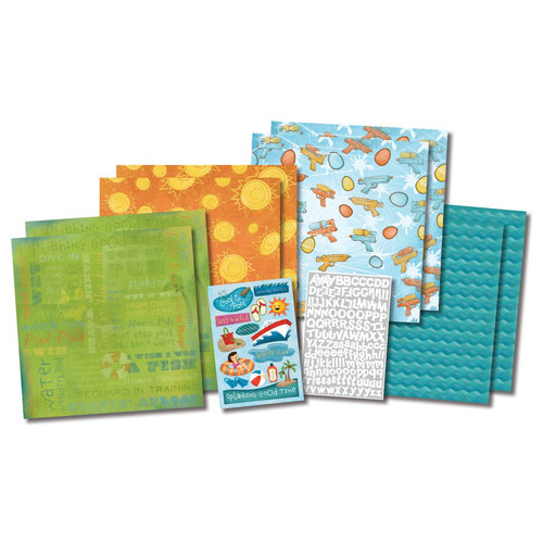 Karen Foster Design - Water Fun Collection - Scrapbook Kit - Water Wonderland
