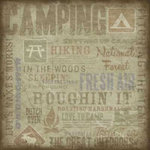 Karen Foster Design - Outdoors Collection - 12x12 Paper - Camping Collage