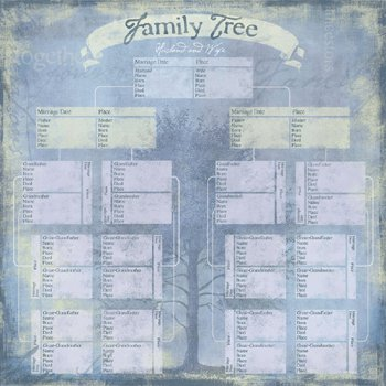Karen Foster Design - My Legacy Collection - Paper - Family Tree Pedigree