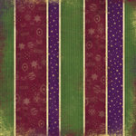 Karen Foster Design - Holly Jolly Christmas Collection - Patterned Paper - Christmas Ribbons, CLEARANCE