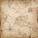 Karen Foster Design - Pirate's Life Collection - Patterned Paper - Treasure Map
