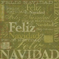 Karen Foster Design - Spanish Momentos Collection - Paper - Green Christmas - Feliz Navidad