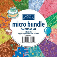 Karen Foster Design - Calendar Creations - Micro Bundle Calendar Kit - 4 x 4 - to use with Calendar Base