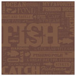 Karen Foster Design - Fishing Collection - 12x12 Paper - Fish Collage