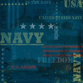 Karen Foster Design - Military Collection - 12x12 Paper - Navy
