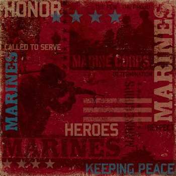Karen Foster Design - Military Collection - 12x12 Paper - Marines