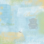 Karen Foster Design - Baby Boy Collection - 12 x 12 Paper - Baby Boy Collage