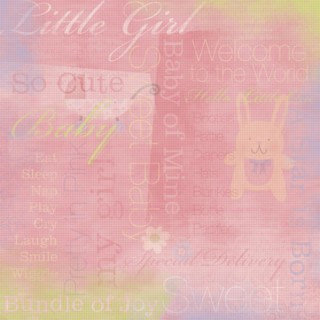 Karen Foster Design - Baby Girl Collection - 12 x 12 Paper - Baby Girl Collage