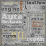 Karen Foster Design - Auto Mechanic Collection - 12 x 12 Paper - Auto Mechanic Collage