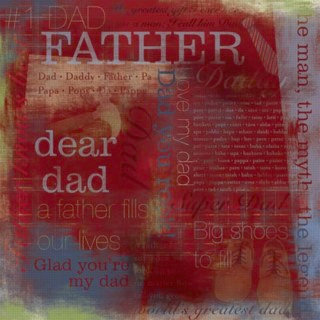Karen Foster Design - Father Collection - 12 x 12 Paper - Number 1 Father Collage