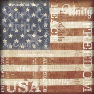 Karen Foster Design - Patriotic Collection - 12 x 12 Paper - Stars and Stripes Collage
