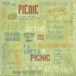 Karen Foster Design - Picnic Family Reunion Collection - 12 x 12 Paper - Life's a Picnic Collage