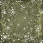 Karen Foster Design - Christmas Collection - 12 x 12 Paper - Green Snowflakes