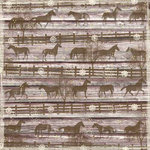 Karen Foster Design - Cowgirl Collection - 12 x 12 Paper - Pony Pen