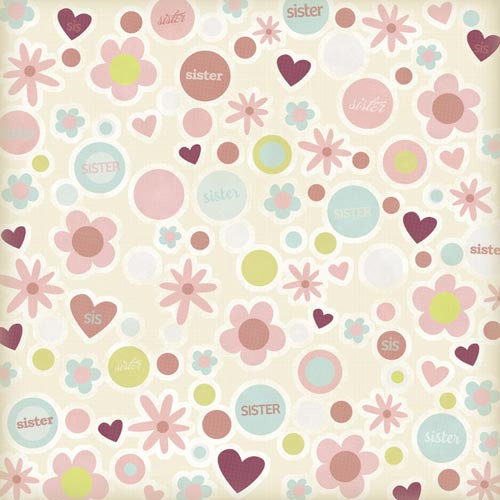 Karen Foster Design - Sister Collection - 12 x 12 Paper - Sister to Sister