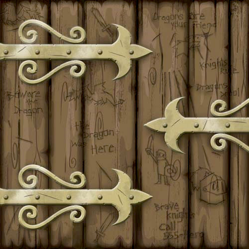 Karen Foster Design - Dragon Collection - 12 x 12 Paper - Dragons Gate