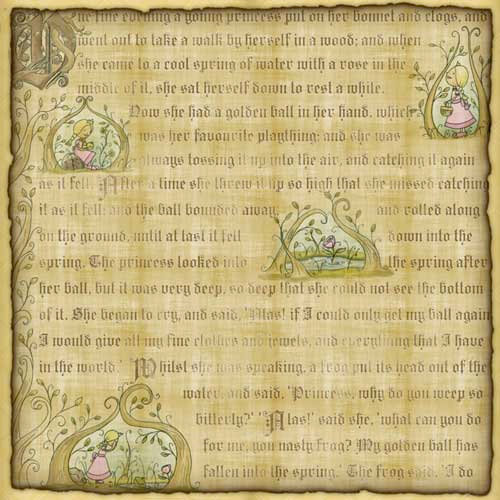 Karen Foster Design - Princess Collection - 12 x 12 Paper - Princess Fable