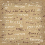 Karen Foster Design - Hockey Collection - 12 x 12 Paper - Hat Trick