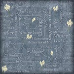 Karen Foster Design - In Memory Collection - 12 x 12 Paper - Remembrance Collage