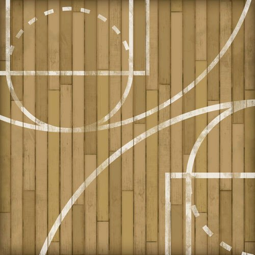 Karen Foster Design - Basketball Collection - 12 x 12 Paper - Courtside