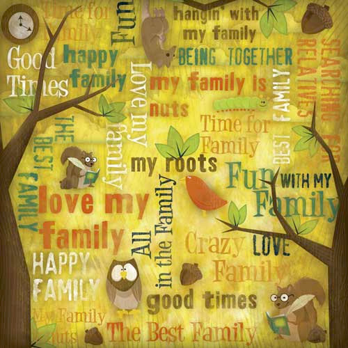 Karen Foster Design - Kids' Ancestry Collection - 12 x 12 Paper - Family Fun Collage