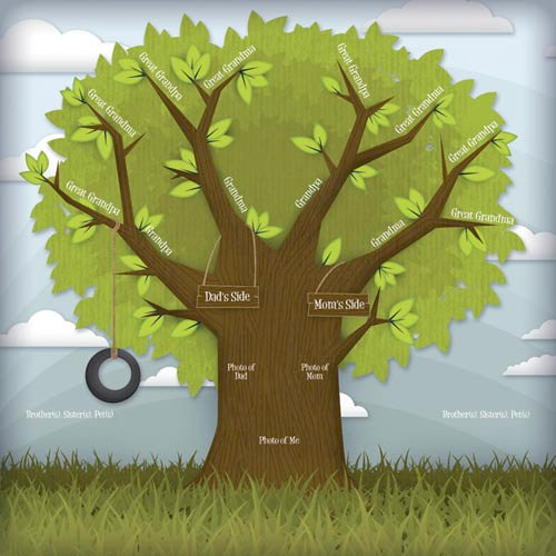 Karen Foster Design - Kids' Ancestry Collection - 12 x 12 Paper - Family Branches