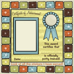 Karen Foster Design - Potty Training Collection - 12 x 12 Paper - Potty Certificate