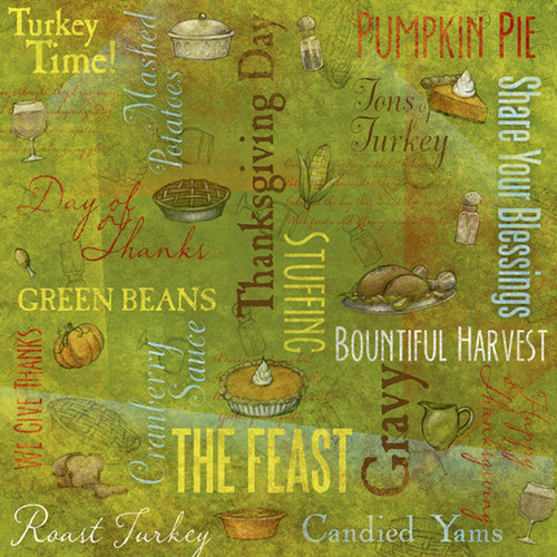 Karen Foster Design - Thanksgiving Collection - 12 x 12 Paper - Day of Thanks Collage