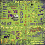 Karen Foster Design - Halloween Collection - 12 x 12 Paper - Witch's Brew Collage