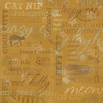 Karen Foster Design - Cat Collection - 12 x 12 Paper - Fat Cat Collage