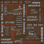 Karen Foster Design - Little Boy Collection - 12 x 12 Paper - Little Buddy Collage
