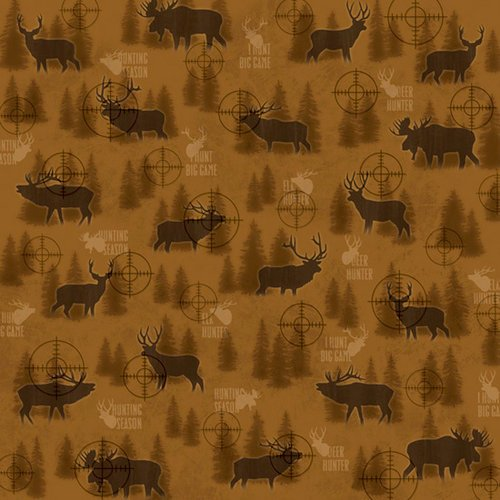 Karen Foster Design - Hunting Collection - 12 x 12 Paper - In The Scope