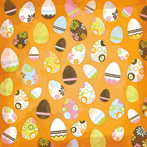 Karen Foster Design - 12 x 12 Paper - Eggs Eggs Eggs