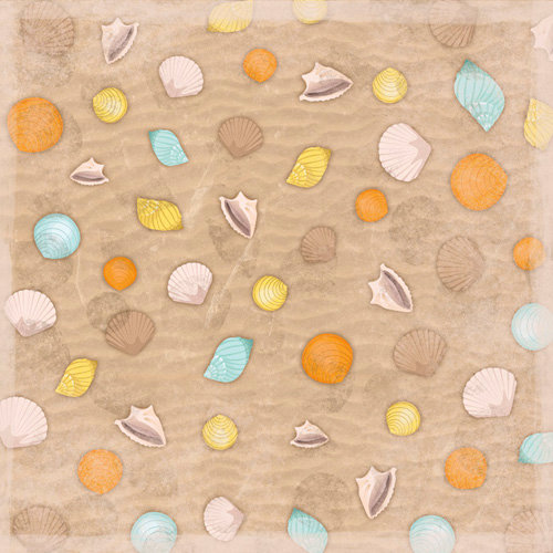 Karen Foster Design - 12 x 12 Paper - Gathering Shells