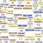 Karen Foster Design - 12 x 12 Paper - Marathon Numbers
