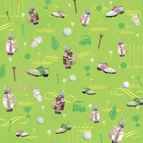 Karen Foster Design - Golf Collection - 12 x 12 Paper - Women's Golf Gear