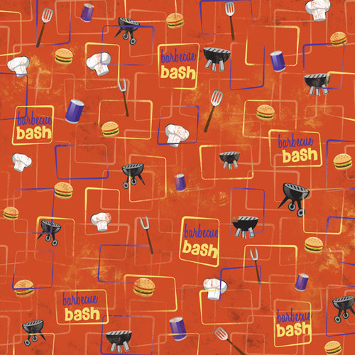 Karen Foster Design - Picnic Collection - 12 x 12 Paper - BBQ Bash