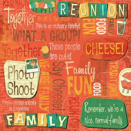 Karen Foster Design - Family Reunion Collection - 12 x 12 Paper - We Are Family Collage