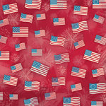Karen Foster Design - Patriotic Collection - 12 x 12 Paper - Freedom Flags