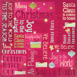 Karen Foster Design - Christmas Collection - 12 x 12 Paper - We Believe Collage
