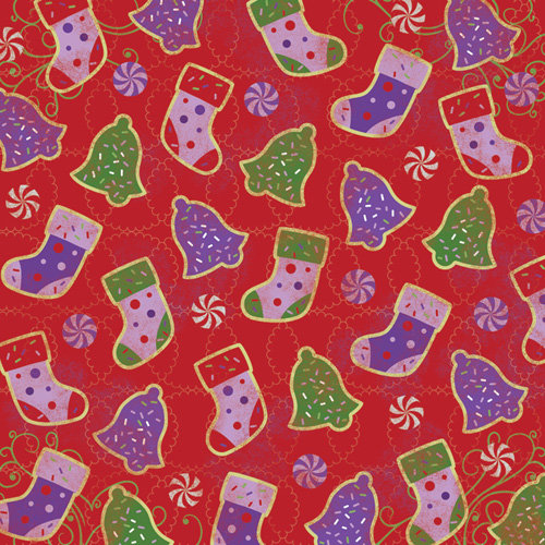 Karen Foster Design - Christmas Cooking Collection - 12 x 12 Paper - Sugar Cookies