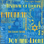 Karen Foster Design - Hanukkah Collection - 12 x 12 Paper - Hanukkah Collage