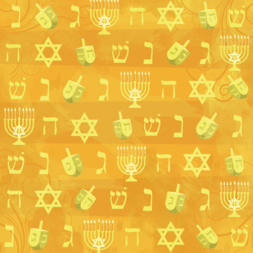 Karen Foster Design - Hanukkah Collection - 12 x 12 Paper - Festival of Lights