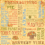 Karen Foster Design - Thanksgiving and Autumn Collection - 12 x 12 Paper - Grateful Heart Collage