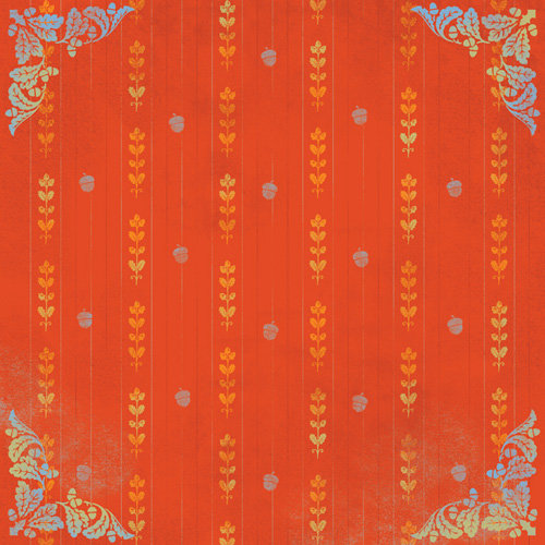 Karen Foster Design - Thanksgiving and Autumn Collection - 12 x 12 Paper - Autumn Nouveau