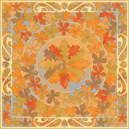 Karen Foster Design - Thanksgiving and Autumn Collection - 12 x 12 Paper - Leaves of Fall